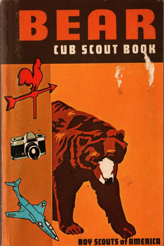 Bear Cub Scout Book - Boy Scouts of America - 1976 - Vintage Kids Book