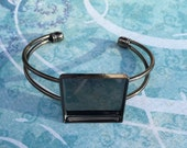 Bracelet Blank Square, 2 pieces, 25 mm square setting