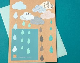Cloudburst (Sympathy) // Cards For Celebrating Life