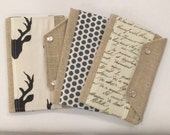 Ready to Ship Passport Cover Case- Mini In Touch Clutch for Moleskine Journals and Passports- Choose your print
