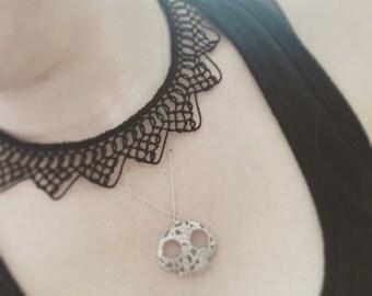 Knotted Lace Choker - Armenian Lace - Oya - Crochet - Point