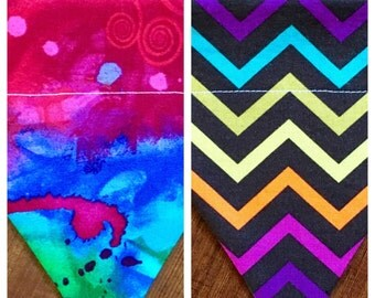 Chevron or Tie Dye dog bandana