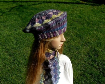 Shell Stitch Crocheted Tam and Scarf PDF Crochet Patterns  Red Heart Boutique Treasure