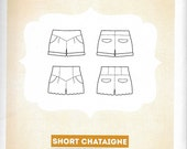 Deer and Doe - SHORT CHATAIGNE - Scalloped and High Waist SHORTS - Sewing Pattern - Multi-Size - Uncut
