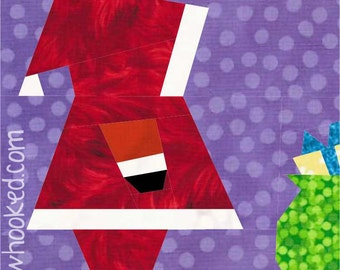 Santa & His Bag, a pattern to paper piece