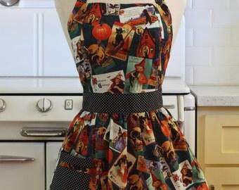 Apron Retro Style Vintage Halloween CHLOE Full Apron