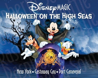 Disney Magic New York to Bahama 7 day Halloween on the High Seas Cruise Magnet 5x7