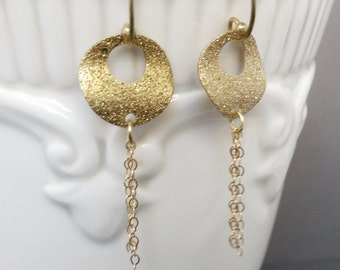 Gold Glitter Tassel Earrings, Glitter Earrings, Tassel Earrings, Gold Earrings,