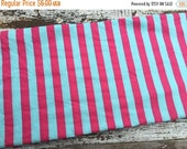 35% OFF CRAZY SALE- Circus Striped Fabric-Reclaimed Bed Linen Fabric-Pink and Blue