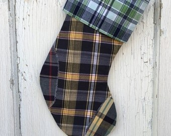 30% OFF SUPER SALE- Classic Plaid Stocking -Christmas Stocking-