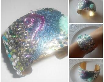 Mermaid dragon scales collector cuff