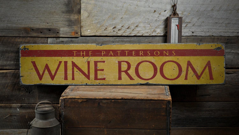 Wine Room Wood Sign Custom Family Name Home Decor Wine Lover