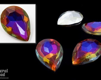20mm x 25mm Faceted Volcano Pear Cabochon (4 Pcs) #5718