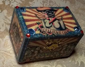 Cowgirl Trinket Box