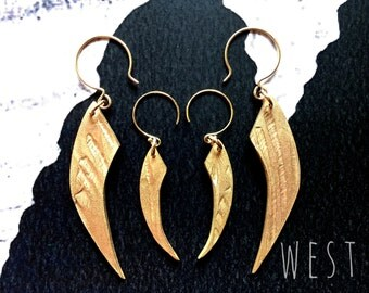 Frances Claw earrings/ Small/ Bronze/ West