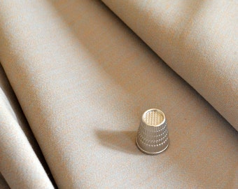 """Vintage Wool Gabardine Neutral Taupe 3.5 yards Beautiful Quality 60"""" wide"""