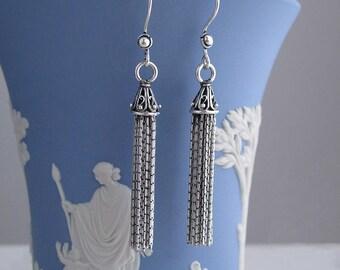tassel sterling silver earrings