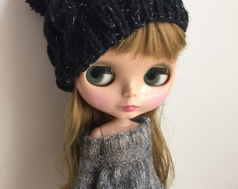 Babydoll sweater for Blythe-smoke grey