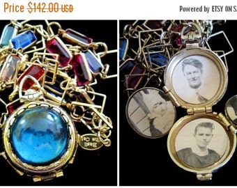 ON SALE Wear the Rainbow - Vintage Coro Locket Necklace