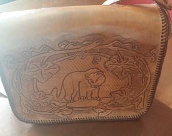 stunning animal print vintage leather handbags purse