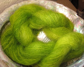 Kid Mohair Brushed Lace Weight Yarn (Key Lime) 100 yards 91.4 meters