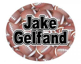 Boys Clothing Labels | Kids Clothing Labels | Football Labels | Peel and Stick Clothing Labels | Waterproof Name Labels | Camp Stuff Labels