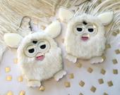 Furry Furby Acrylic Laser Cut Earrings