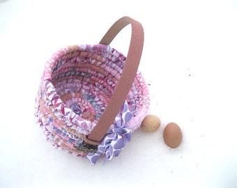 LITTLE MISS  textile art tote EASTER BaSKeT