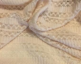 Crochet  Knit Fabric 2 Yards