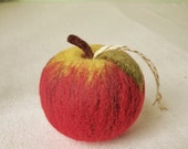 Ornament - Red Apple Felted Wool