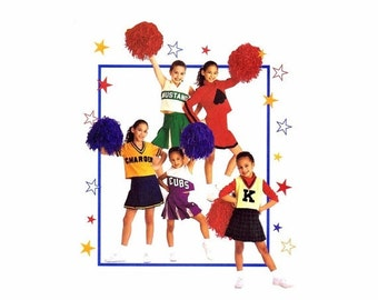 SALE Girls Cheerleader Costumes McCalls 2849 Sewing Pattern Cheerleader Top Skirt Panties Size 8 - 10 Breast 27 - 28 1/2 UNCUT