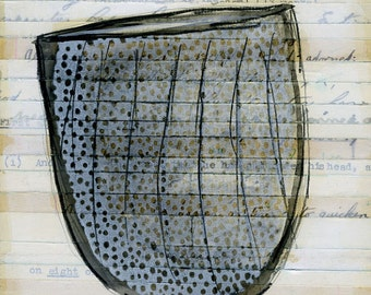 original drawing -  grey speckled cup by olivia jeffries