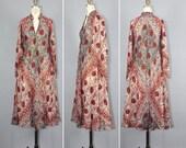 R E S E R V E D shop sale / india dress / 1970s dress / festival dress / ADINI bohemian gauze dress