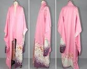 furisode / vintage kimono / silk robe / SPRING DREAM silk kimono