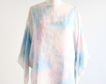 Vintage Silk Watercolor Top