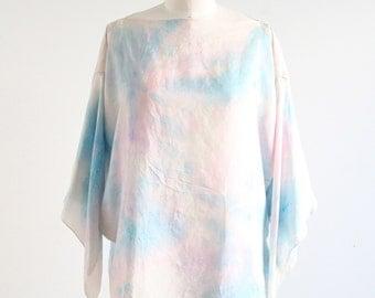 Vintage Silk Watercolor Top