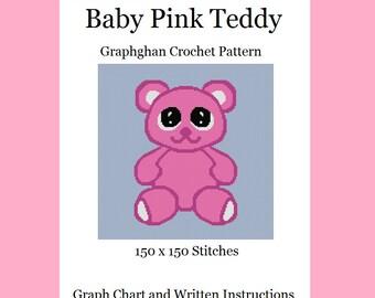 Baby Pink Teddy - Graphghan Crochet Pattern