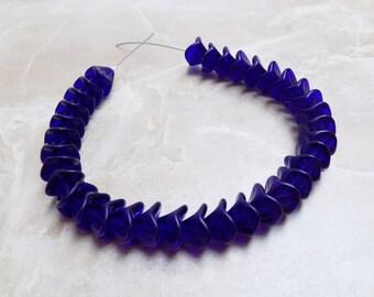 Czech Pressed Glass bellflower beads