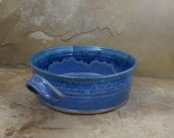 Casserole Baking Dish - Handmade Stoneware Ceramic Pottery - Indigo Blue - 2 quart