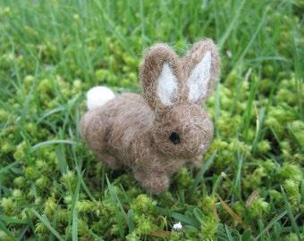 Needle Felted Bunny Brown Rabbit Wool Animal