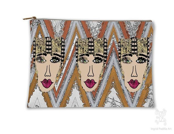 Boho, fashionista, Makeup bag, Cosmetic Bag, Makeup Pouch, Toiletry Bag, Purse Organizer, Bag, Pencil Case, carry all pouch, carry all bag