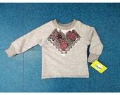 Owl print bamboo fleece sweatshirt ready to ship Supayana