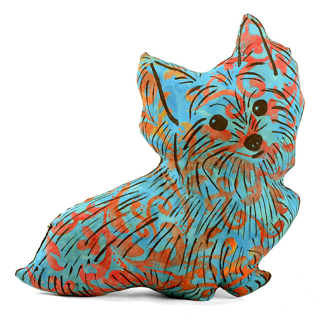 Decorative Pillows Dog : decorative pillow dog pillow animal pillow yorkie shaped