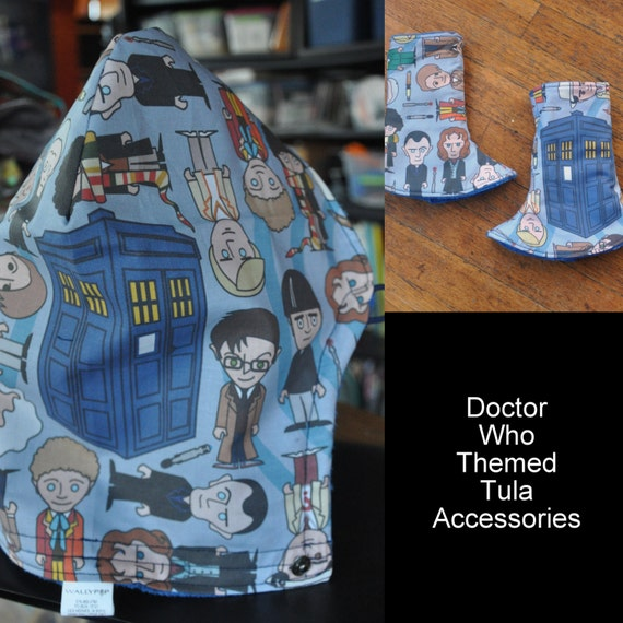 Doctor who themed tula accessories hood corner suck pads for Doctor who themed wedding dresses