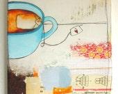 Tea Art - Tea Canvas Art Print - Tea Print on Canvas - Wall Art - Home Decor - Tea Print - Print of Painting - I Heart Tea