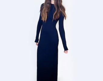 Maxi Dress •  Boatneck • Women's Tall & Petite Length Dresses • Relaxed Fit Jersey Dress • Minimalist • Loft 415 Clothing (No. 715)