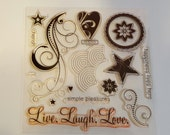 DESTASH Love Life •my acrylix stamps• Close to my heart D1482