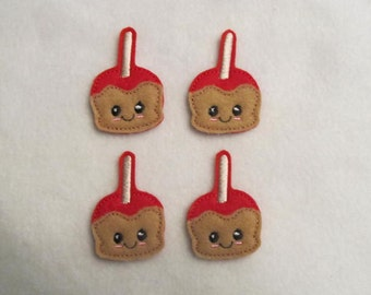 4 Felt CANDY APPLE Applique Embellishments Style GS