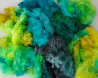 Tropical - Spirit Spin Dyed Fibre Pack - Spinning Felting Weaving Fiber Polwarth Merino Corriedale Wool Fleece