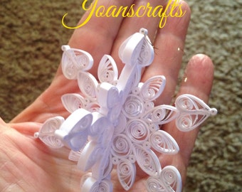 3-D Quilled Snowflake Ornament for 2010